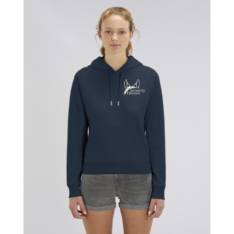 Cowgirl Hoodie - Serenity Horses - French Navy
