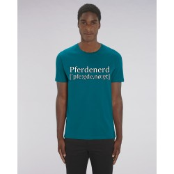 "Cowboyshirt ""Pferdenerd"" in Ocean Depth"